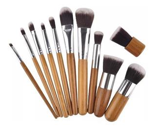 Lote Incluye 3 Set De 11 Brochas Maquillaje - 33 Pzas Total