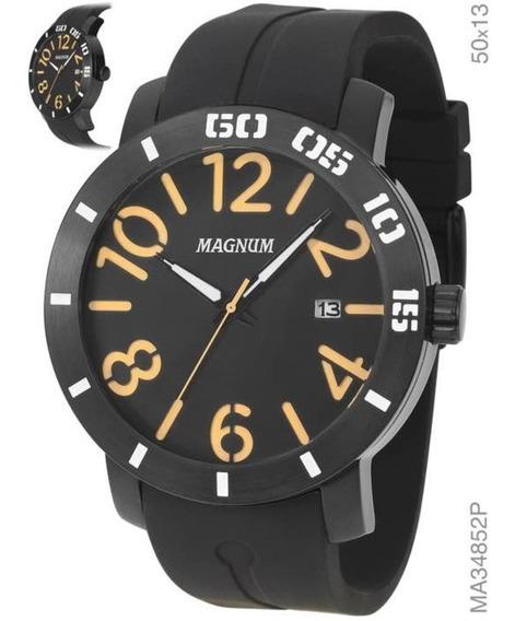 Relogio Magnum Analogico Masculino Ma34852p Preto