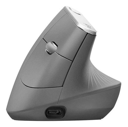 Mouse Logitech Mx Vertical Preto 4000 Dpi Sem Fio