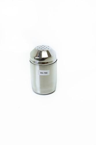 Imagen 1 de 4 de Salero Sal Fina 1 Kg Acero Inox