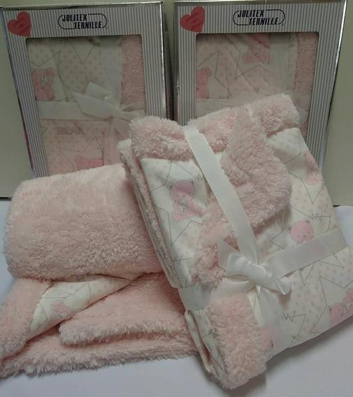 Cobertor / Edredom Carneirinho Bebe Menina Jolitex Rosa