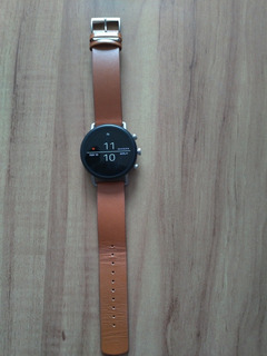 Relógio Smartwatch Skagen Falster 2 Brown Leather 40mm Nf