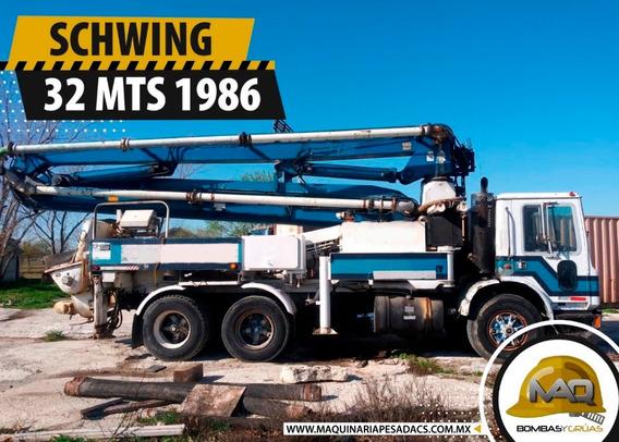 Mack - Schwing 32 Mts 1986 Bomba De Concreto