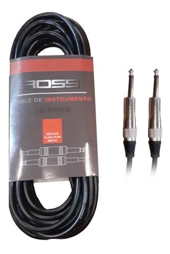 Cable Ross Plug Plug Para Guitarra Bajo Cm-pp-3m