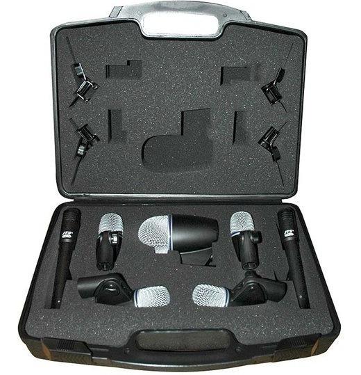 Kit Microfone Bateria Jts 7 Pçs Txb7m Novo Txb-7m = Shure