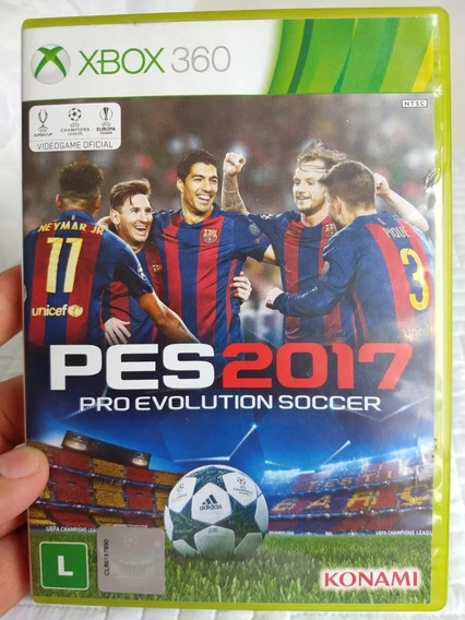 Jogo Pes 17 Xbox 360 Mídia Física Original Português