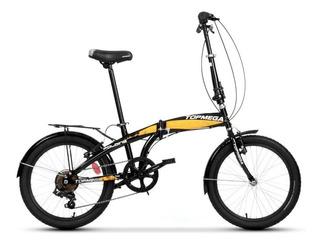 Bicicleta Plegable 7 Vel. Topmega Folding + Luces Led Gratis