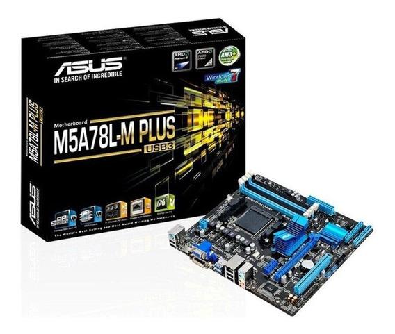 Placa-mãe Asus P/ Amd Am3+ M5a78l-m Plus/usb3 4xddr3 Matx