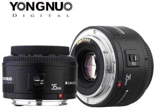 Lente Para Canon 35mm Yongnuo Profissional Fotografia Festas