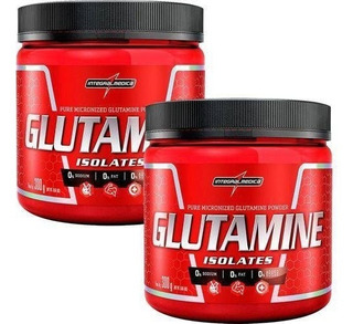 Kit 2 Glutaminas Powder 300g (100% Pura) + Porta Comprimidos