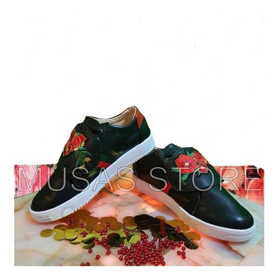 Tenis Tipo Gucci Sneakers Tigre Flores Serpiente Envío Grati
