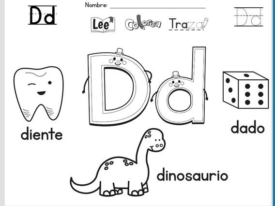 Imprimible Niños Colorear Letras Divertido