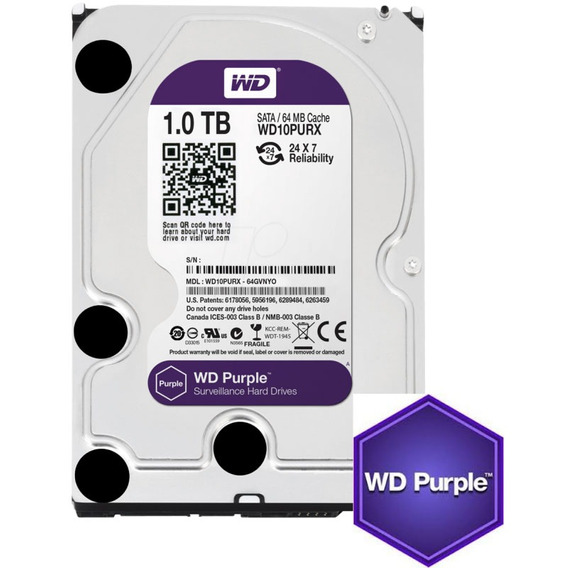 Hd Purple 1tb Sata 6 Gb/s 5400rpm 64mb Wd10purx