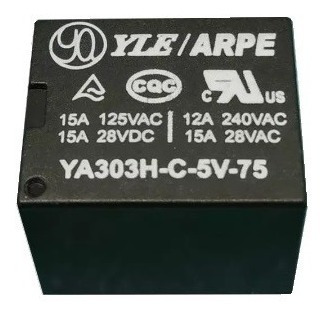 Rele 5v 5vcc 5vdc Ya303h-c-5v Industrial 15a - Kit 25 Pçs