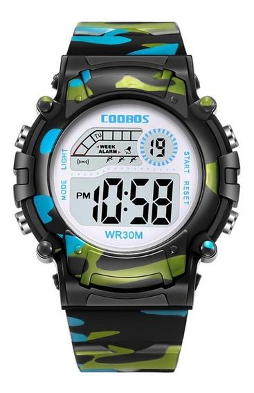 Reloj Infantil Led De Moda Contra Agua Alarma Cronometro