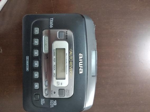 Walkman Aiwa Tx656 Toca Fita Rádio