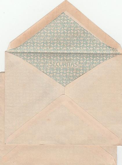 Dois Envelopes Antigos Com Estampa Interna - Ah