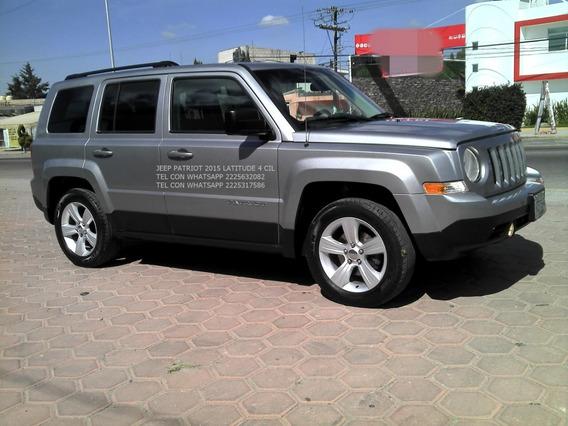 Jeep Patriot 2015 Aut 4 Cil 2.4 Lts Latittud Eng $ 41,600