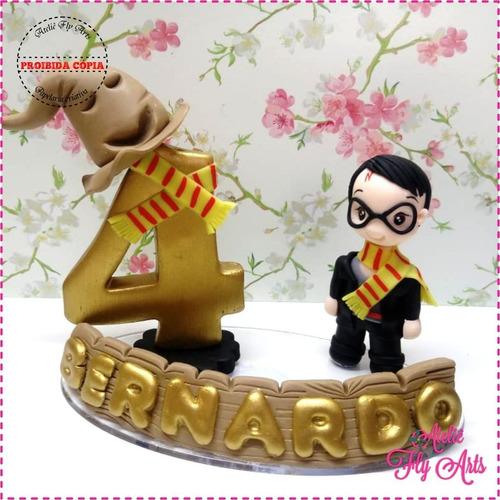 Topo Bolo Biscuit Vela Aniversario Harry Potter Hermione