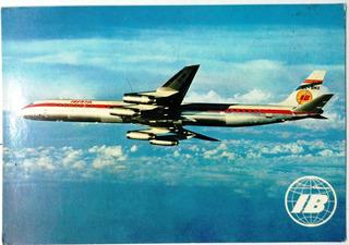Coleccionable Postal Avión Iberia Jet Douglas Super Dc -8/63
