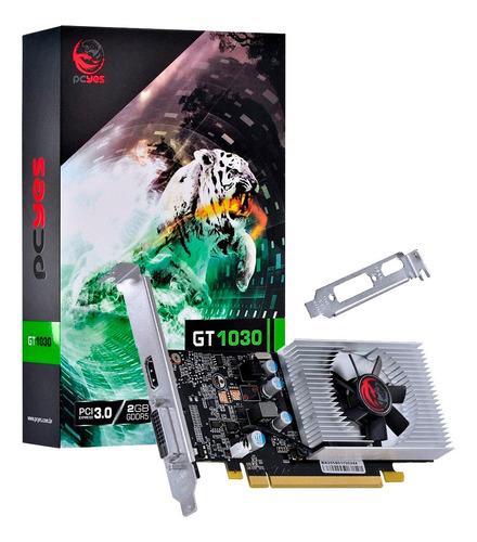 Imagem 1 de 7 de Placa De Video Pcyes Gt 1030 2gb Gddr5 64 Bits