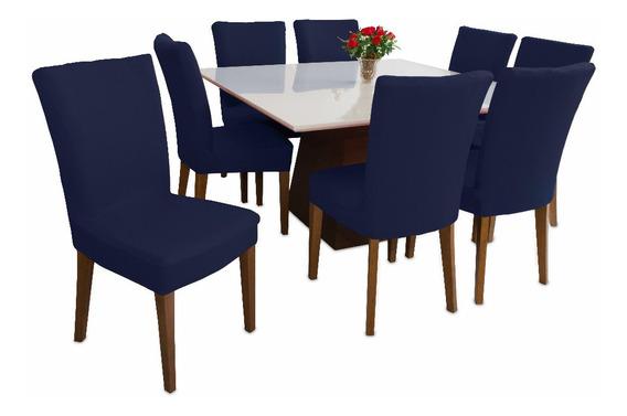 Capa Para Cadeira Azul Kit 4 Peças Malha Gel Barato Promoção