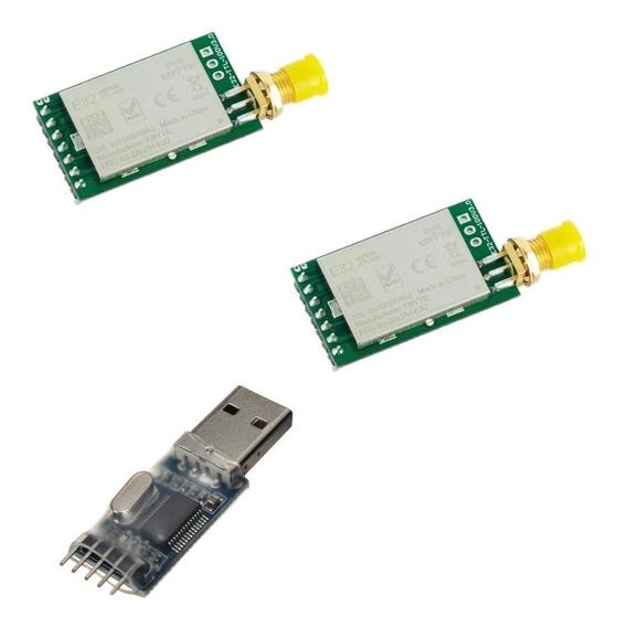 Kit 2 Lora 0,1w E32-433t20d + Serial Pl2303hx Pronta Entrega