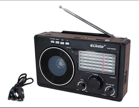 Rádio Livstar Com Bluetooth Am Fm Usb Cartão De Memória Sd