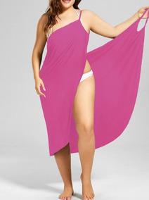 Vestido Saída De Praia Plus Size Moda Feminina, Roupas Midi