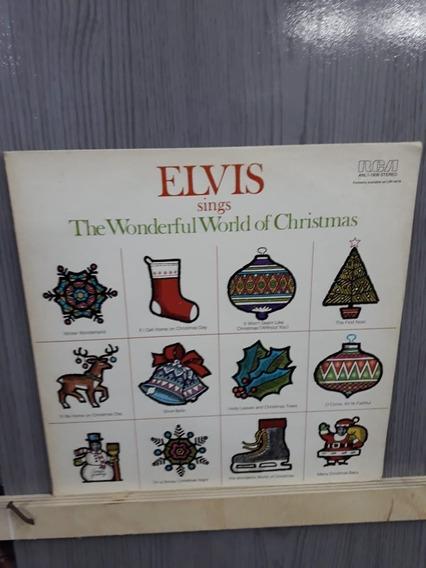 Lp- Imp- Elvis Presley-wonderful World Of Christmas-frete 15