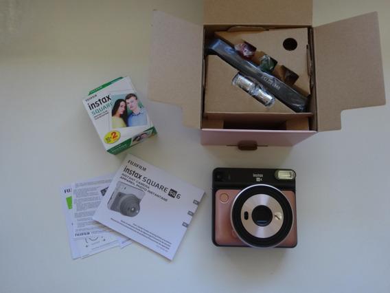 Fujifilm Instax Square Sq6 Instant Film Camera Caixa 10 Foto