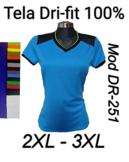 Playera Dri-fit Dama Dry-fit Deportiva 2xl-3xl Mod D251
