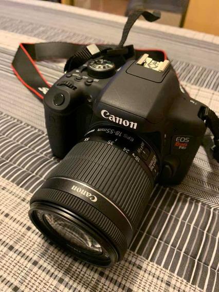 Câmera Canon Eos Rebel T6i + Lente 18-55mm