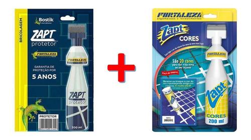 Kit 1 Zapt Tinta Para Rejunte Cores + 1 Zapr Protetor 200ml