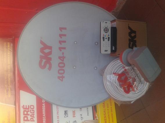 Antenas Sky Pre Pago Ja Habilitada E Com Recerga Digital