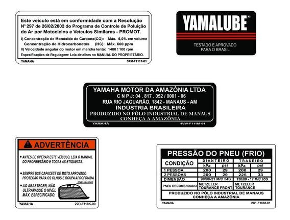 Xt 660 Adesivos De Advertência - Yamaha Xt 660 - F. Grátis