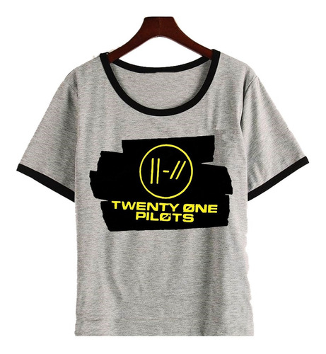 Remera Twenty One Pilots Black Tape Trench - Mujer Entallado