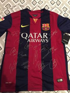 Camisa Oficial Barcelona 14/15 - Autografada Com Certficado