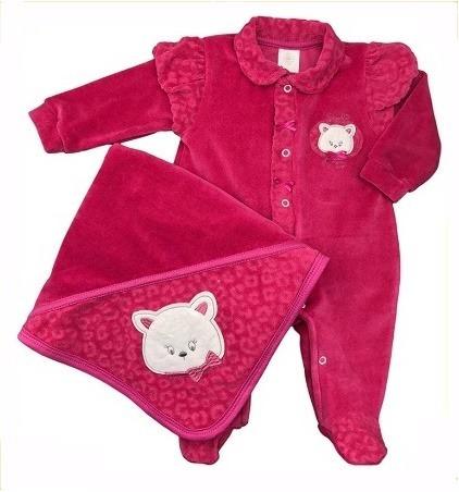 Saída De Maternidade Plush Presente De Anjo Gatinha Cód: 103
