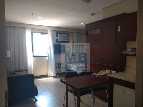 Imagem 1 de 12 de Flat Com 1 Dormitório À Venda, 28 M² Por R$ 200.000,00 - Alto Da Boa Vista - São Paulo/sp - Fl0002
