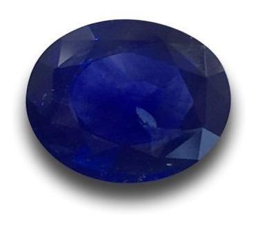 Zafiro Azul Corte Oval 10 Mm X 14 Mm 5.10 Ct Natural