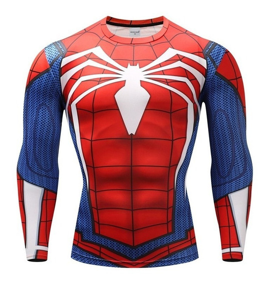 Camiseta Spider Man Hombre Super Heroes Ajustable Fitness