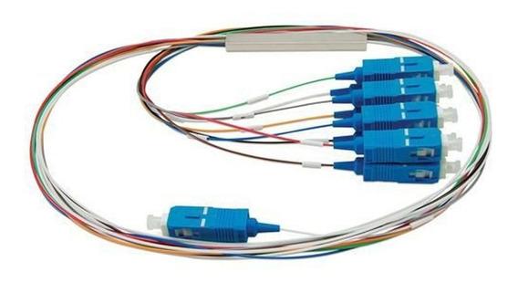Splitter Óptico Conectorizado 1x8 Sc Upc Transcend Nfe