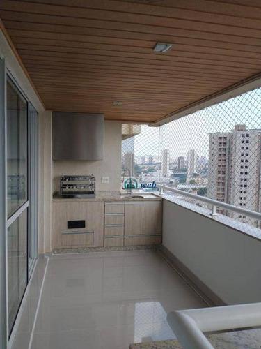 Apartamento Mobiliado Com 3 Dormitórios À Venda, 128 M² Por R$ 899.000 - Centro - Santo André/sp - Ap5811