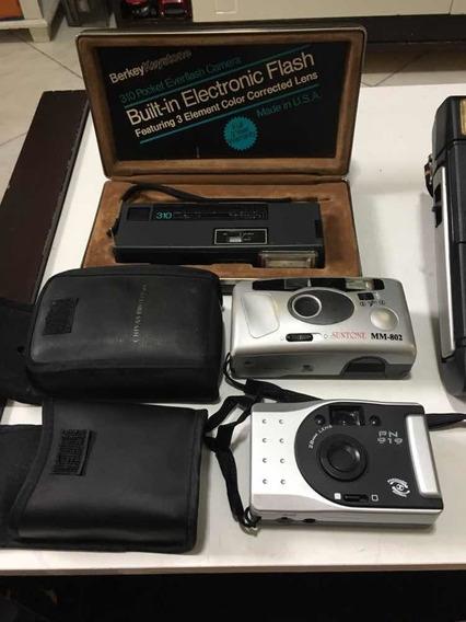 Lote Com 4 Câmeras Fotográficas Antigas