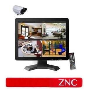 Znc 15 Pulgadas Cctv Tft Lcd Monitor Bnc Hdmi Vga Usb Pantal