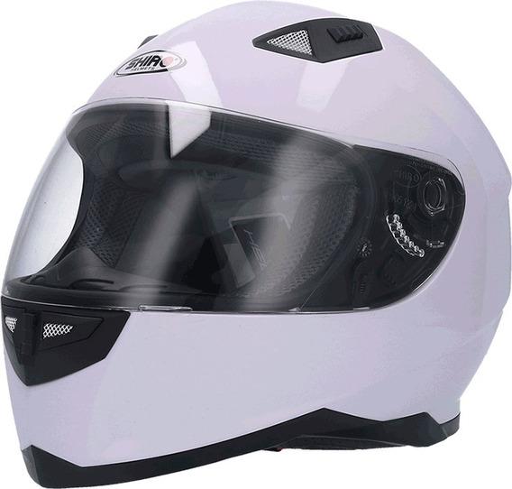 Casco Integral Moto Shiro Sh 881 Monocolor White Yuhmak