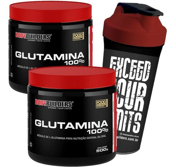 Glutamine 1kg + Shaker - Bodybuilders - Promoção