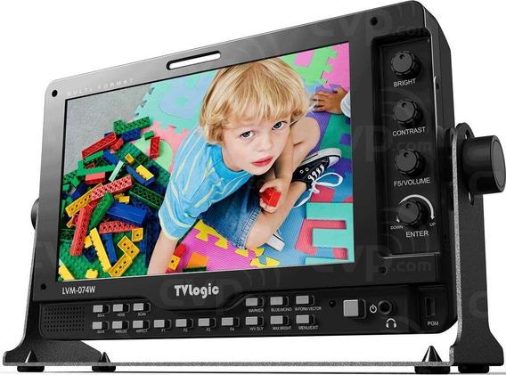 Monitor Tvlogic Lvm-074w Com Gaiola, Tela Original Ótima