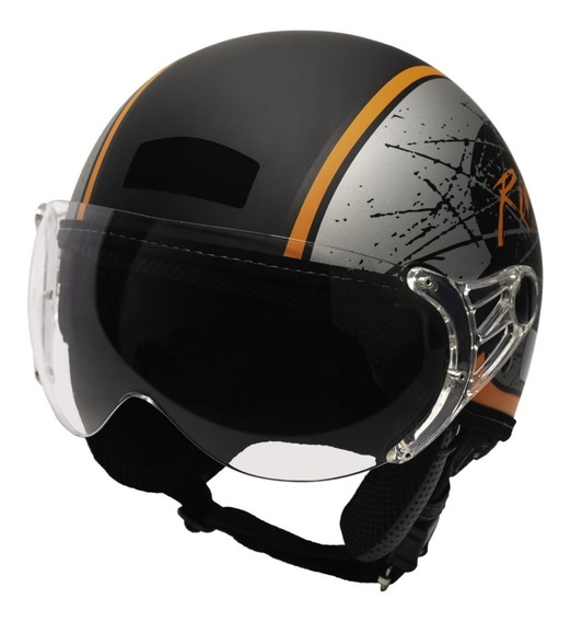 Capacete Kraft Plus Rebel Historic 66 Harley Drag Shadow Nf